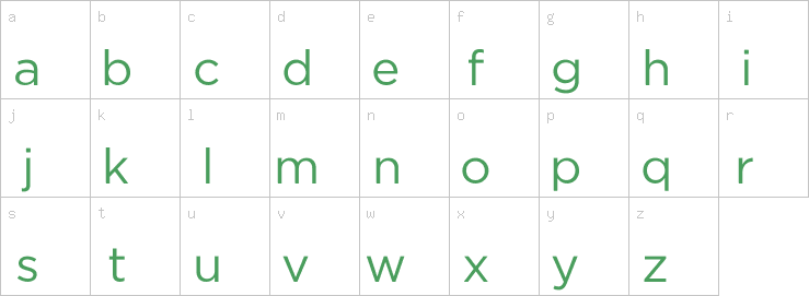 Lowercase characters